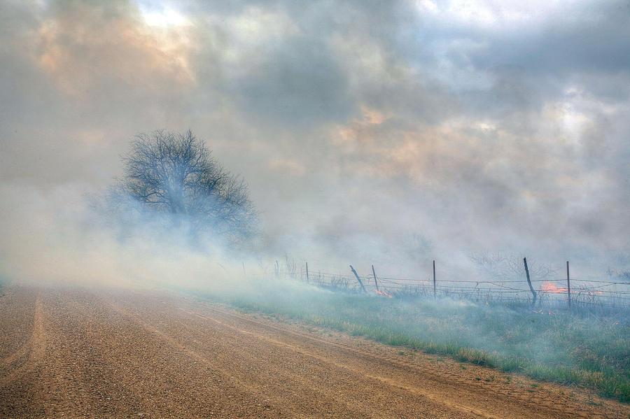 Kansas Photograph - Range Burning by JC Findley