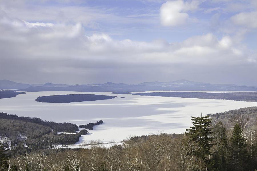 Maine Photograph - Rangeley Maine Winter Landscape by Keith Webber Jr