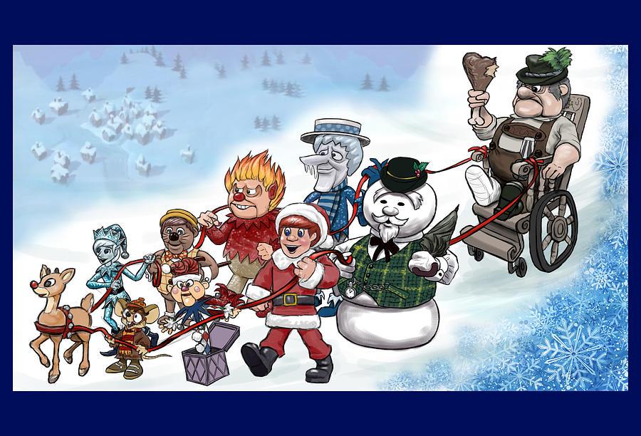 Christmas Digital Art - Rankin Bass Christmas by Jennifer Hotai