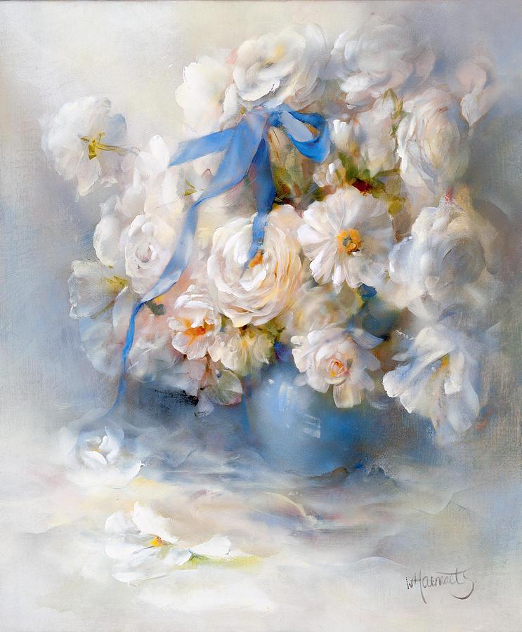 Ranunculus Painting By Willem Haenraets