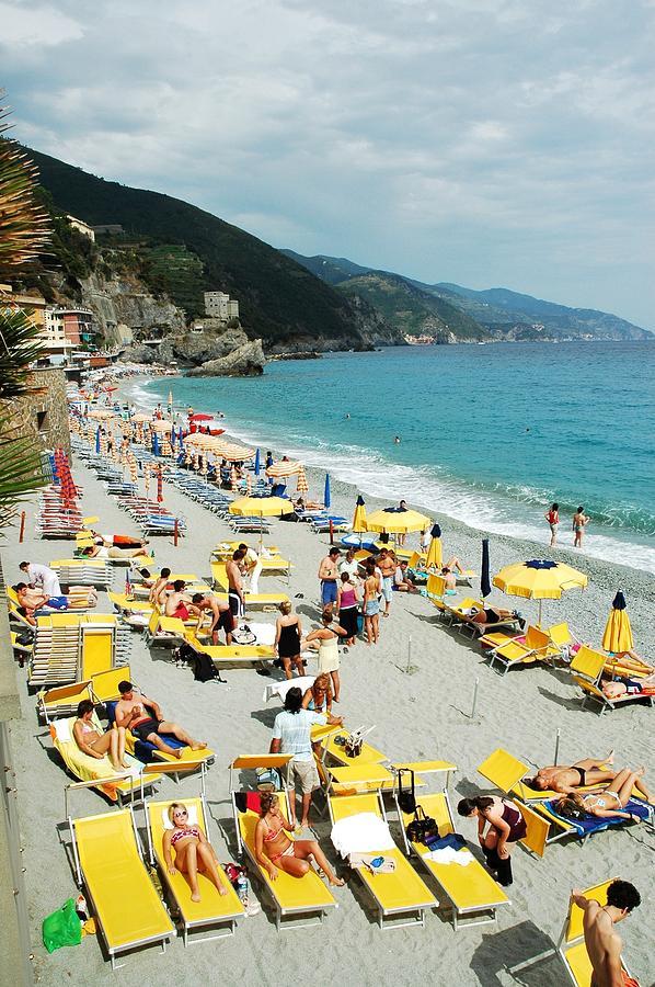 Italy Photograph - Rapallo Beach by Allen Beatty