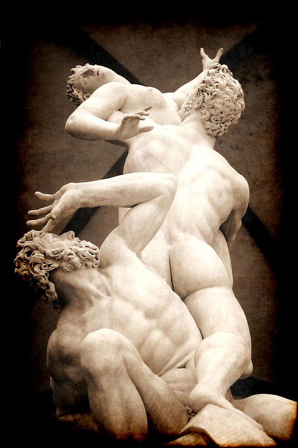 Pictorial Photograph - Rape Of The Sabines In Florence by Jennifer Wright