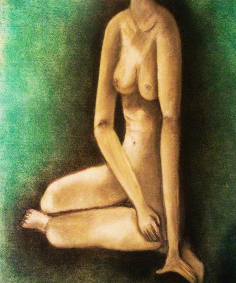 Nude Drawing - Raped And Torn by Crystal  Menicola