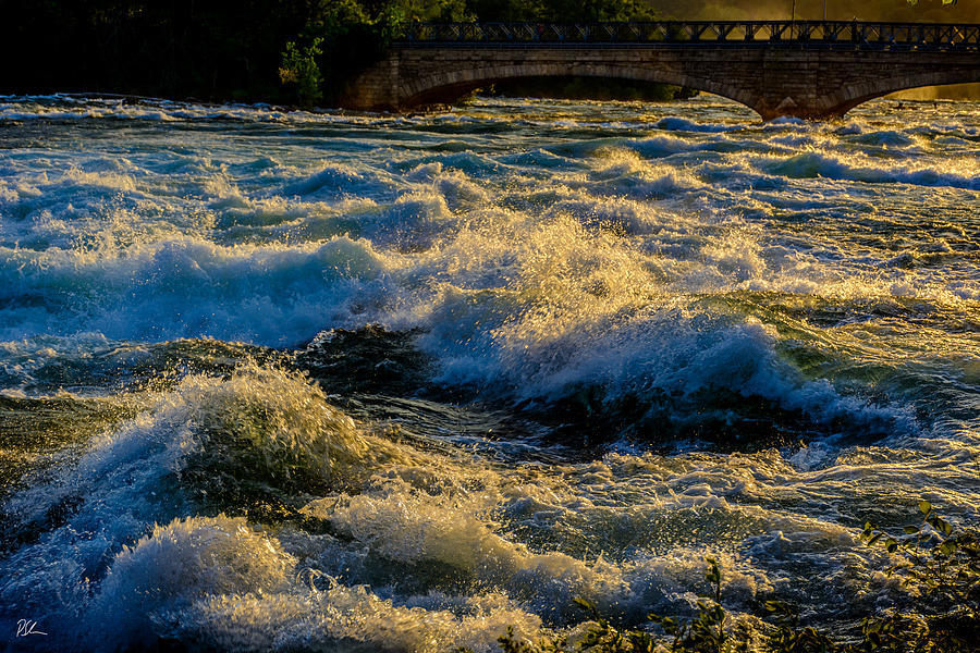 Niagara Falls Photograph - Rapids at Dusk by Pat Scanlon
