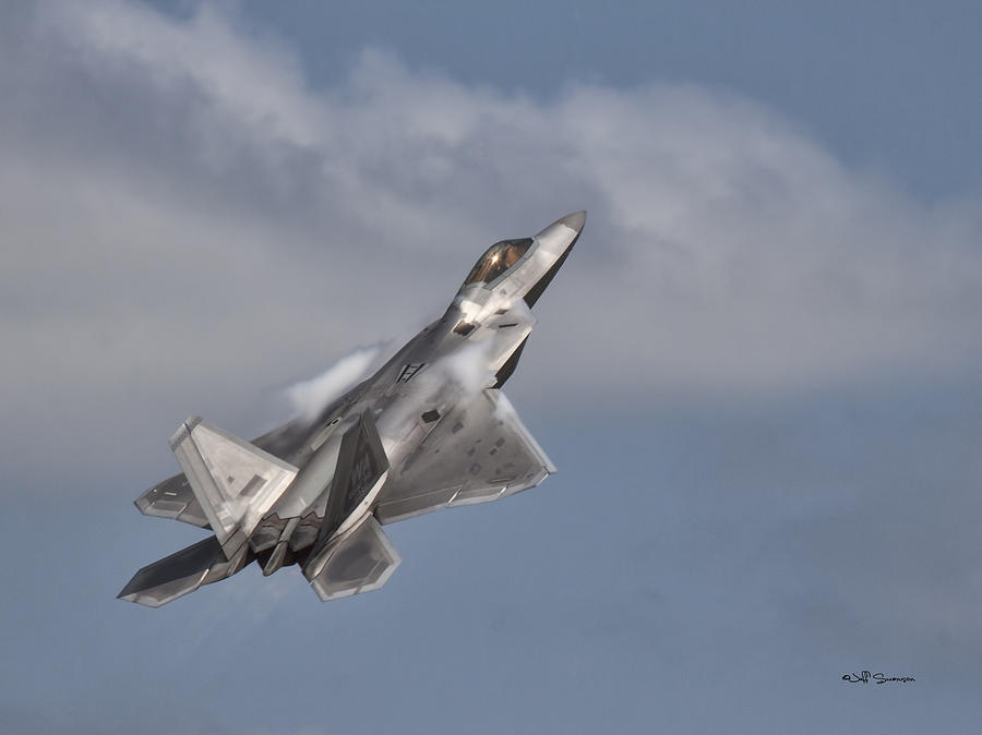 F-22 Photograph - Raptor by Jeff Swanson