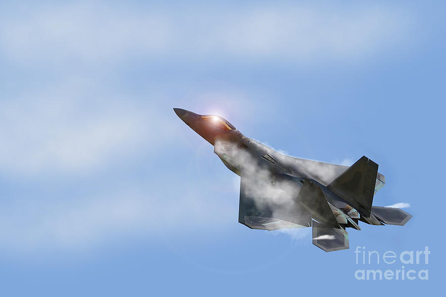 F22 Digital Art - Raptor Vapour by J Biggadike