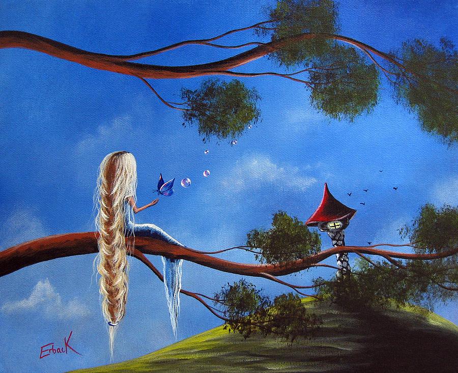 Rapunzel Painting - Original Fantasy Art By Shawna Erback by Shawna Erback