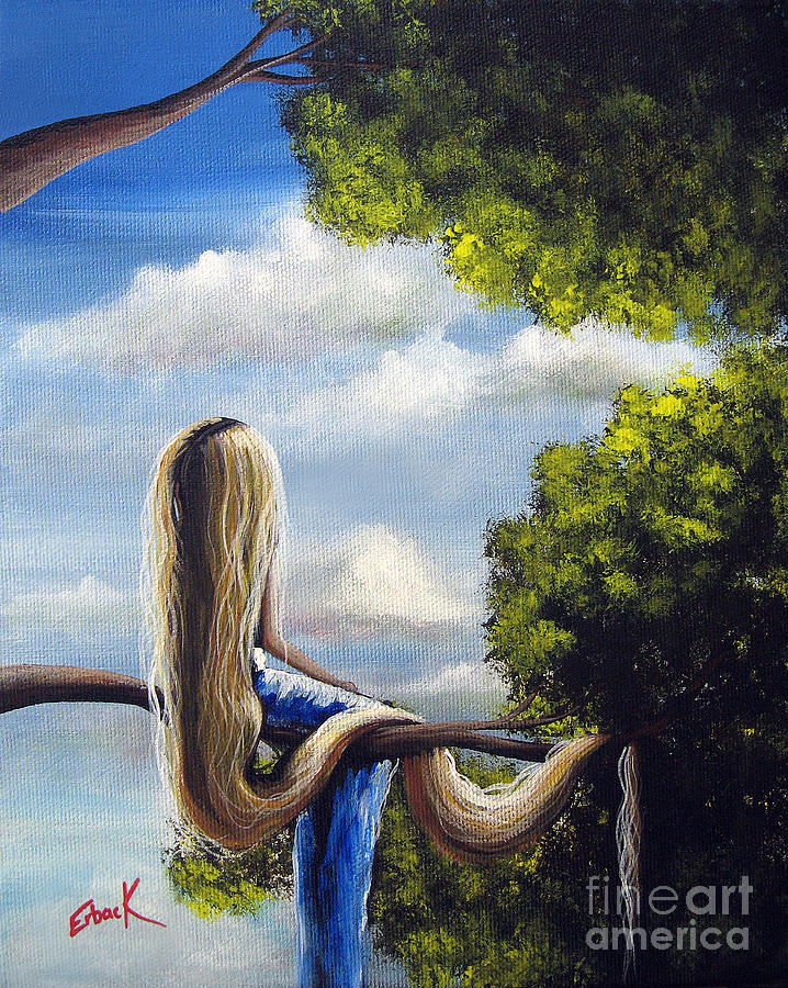 rapunzel original artwork from my acrylic painting painting by
