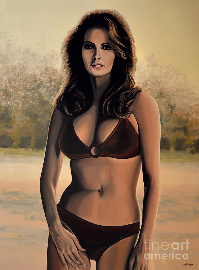 Raquel Welch Painting - Raquel Welch 2 by Paul Meijering