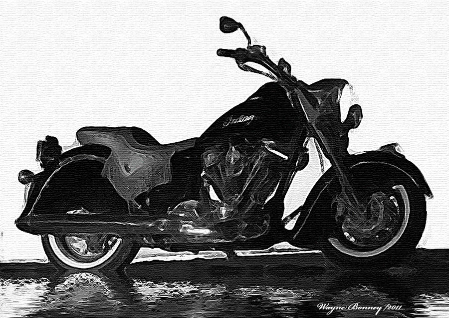Indian Motorcycles Painting - Rare Breed by Wayne Bonney