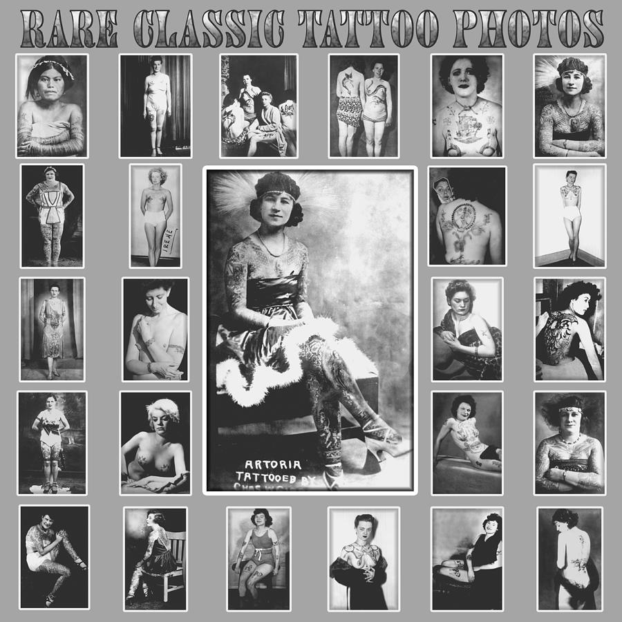 Rare vintage tattoo photograph poster photograph by larry mora for Vintage tattoo art parlor