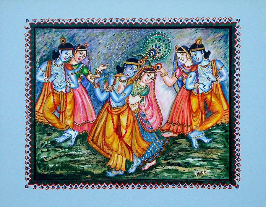 Hindu Painting - Ras Leela by Harsh Malik