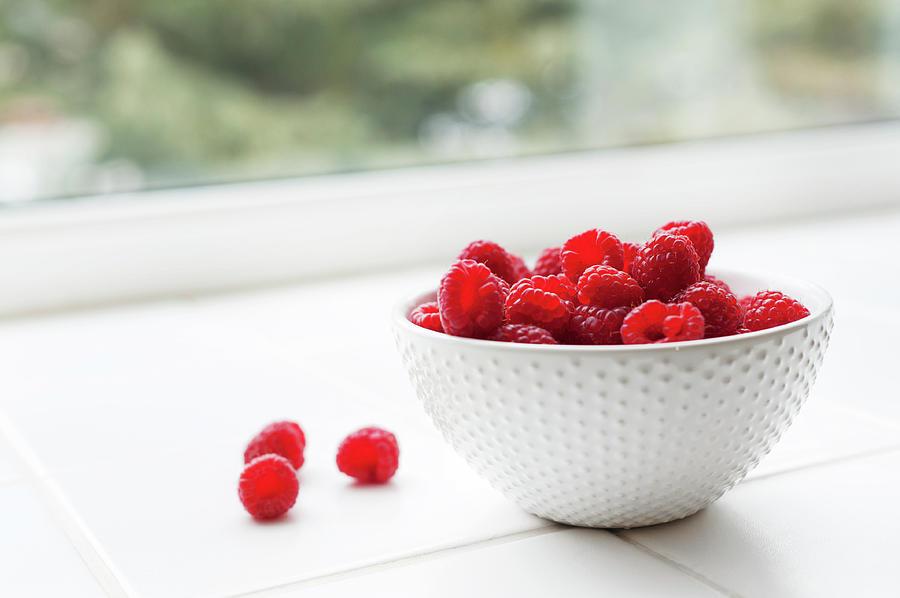 Raspberries Photograph by Ballycroy