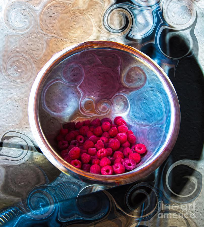 Georgia Okeefe Painting - Raspberry Reflections by Omaste Witkowski