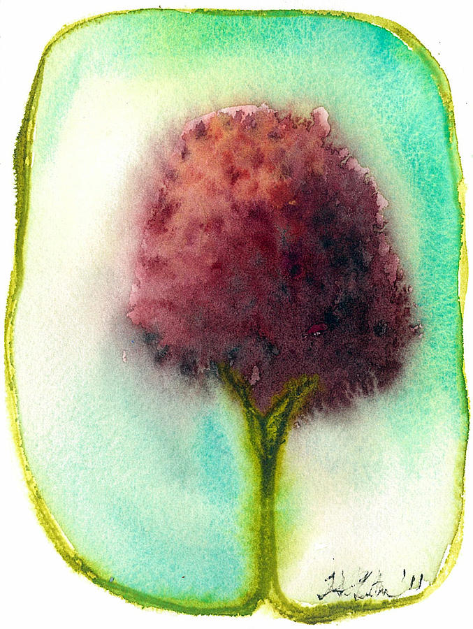 Tree Painting - Raspberry Tree by Hilary Slater