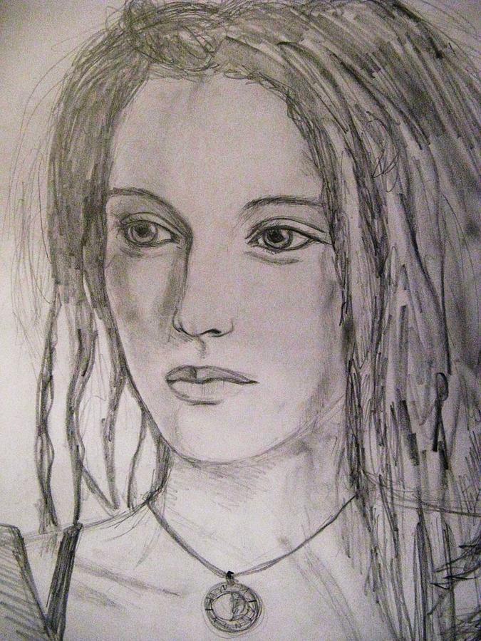 Woman Drawing - Rasta Divine by Agata Suchocka-Wachowska