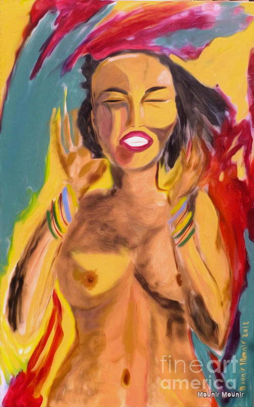 Nude Painting - Rasta Joy by Mounir Mounir