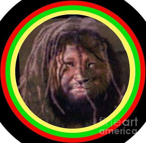 Rasta Lion by Ronda Douglas
