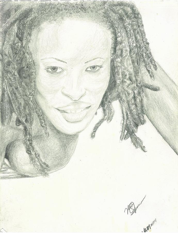 Rasta Sexy Drawing by Norman Sparrow