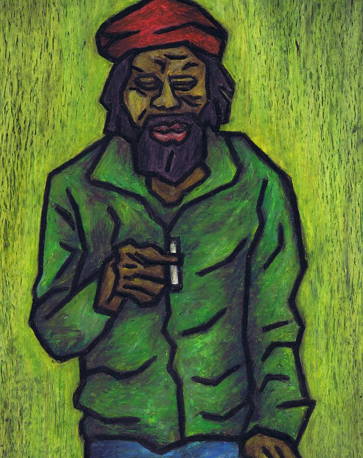 Rastafarian Painting - Rastafarian by Kamil Swiatek