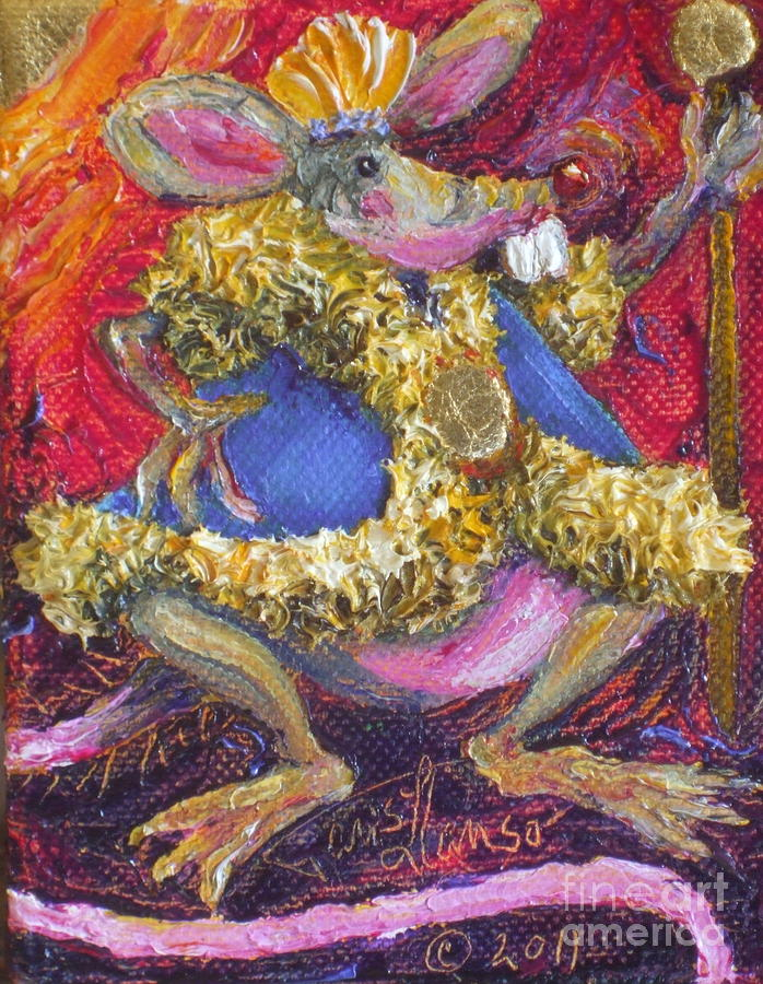 Oil On Canvas Painting - Rat King by Paris Wyatt Llanso