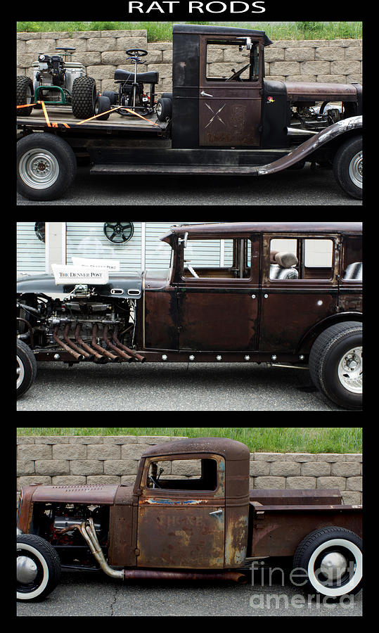 Poster Photograph - Rat Rods Poster by Steven Parker