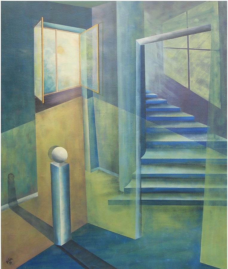 Malerei Painting - Raumirritation 08 by Gertrude Scheffler