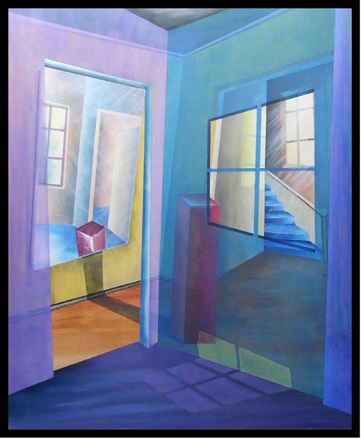 Malerei Painting - Raumirritation 10 by Gertrude Scheffler