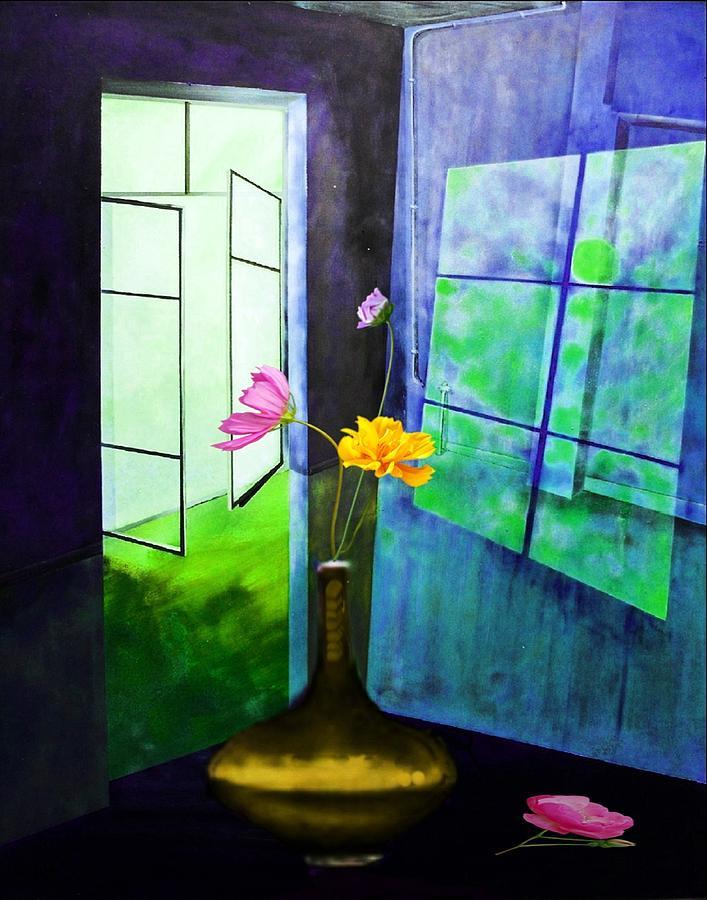 Raum Mixed Media - Raumirritation 12 B by Gertrude Scheffler