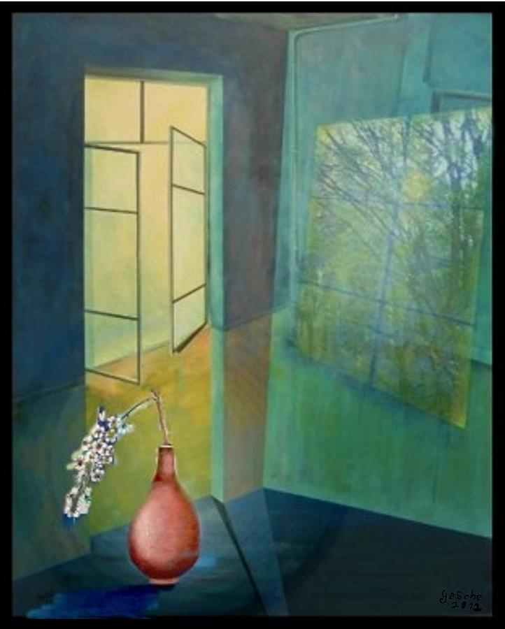 Malerei Painting - Raumirritation 12a by Gertrude Scheffler