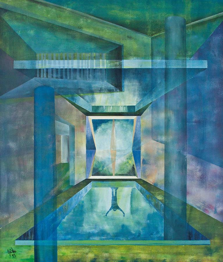 Raum Painting - Raumirritation 13 by Gertrude Scheffler