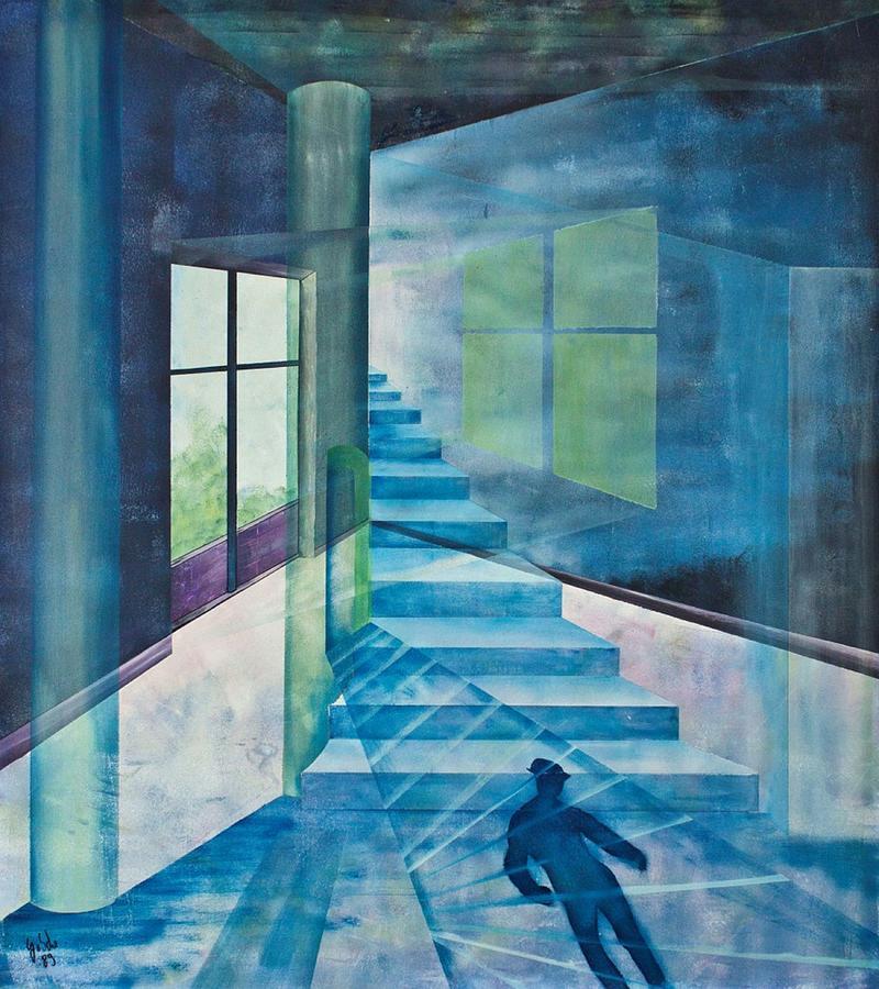 Raum Painting - Raumirritation 14 by Gertrude Scheffler