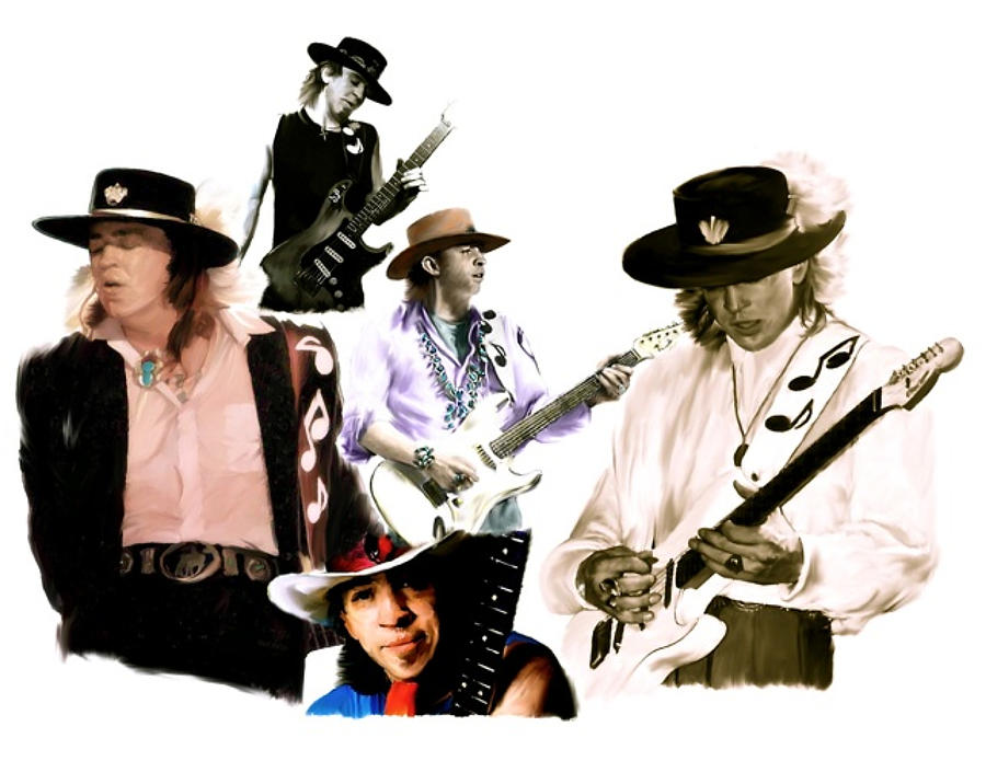 Stevie Ray Vaughan Painting - Rave On  Stevie Ray Vaughan by Iconic Images Art Gallery David Pucciarelli
