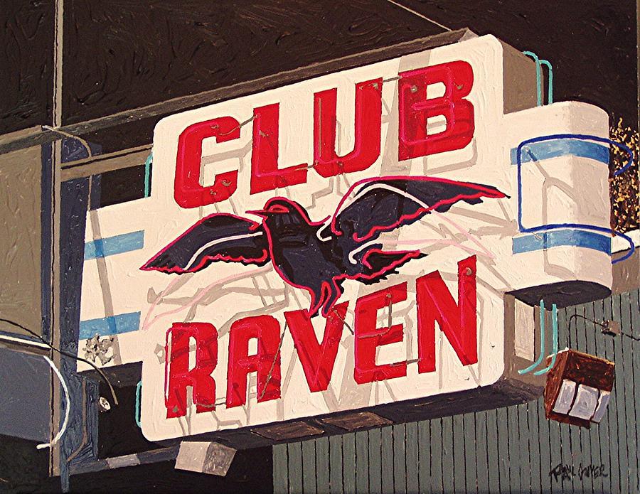 Sacramento Painting - Raven Club by Paul Guyer