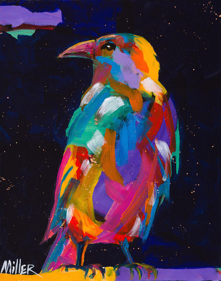 Tracy Miller Painting - Raven Dreams by Tracy Miller
