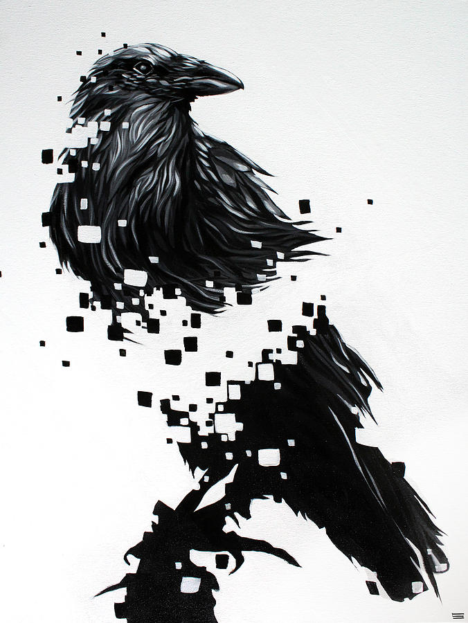 Painting Painting - Raven by Jeremy Scott