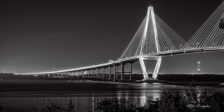 Ravenel Bridge at Night by Mike Covington