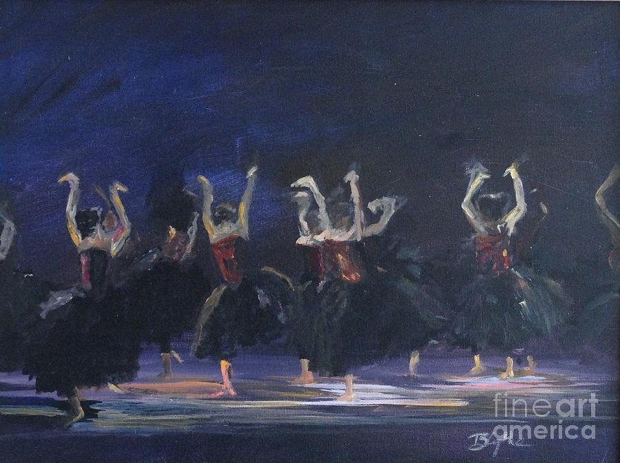 Ravens Painting - Ravens by Blythe Quinn