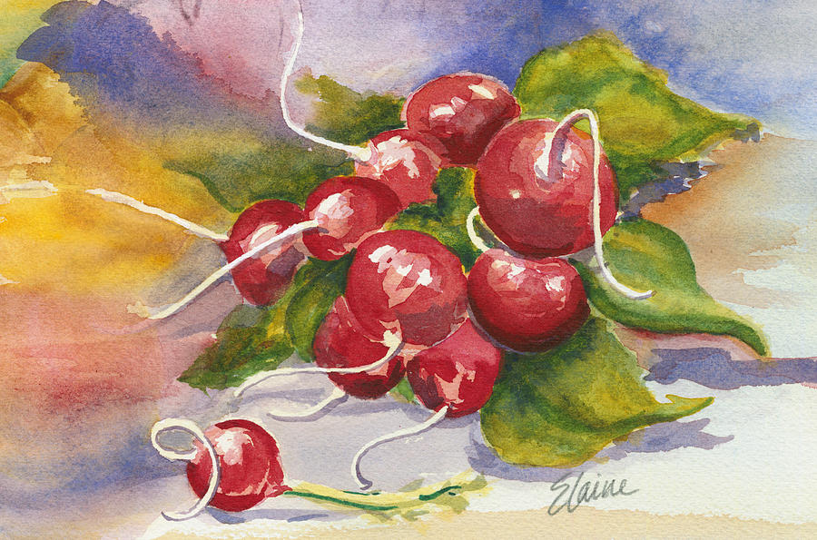 Radish Painting - Ravishing Radishes by Elaine Allen