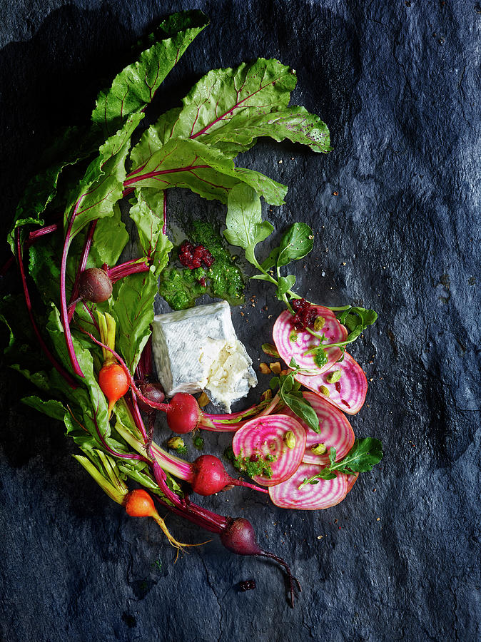 Raw Beeet Salad Ingredients Photograph by Annabelle Breakey