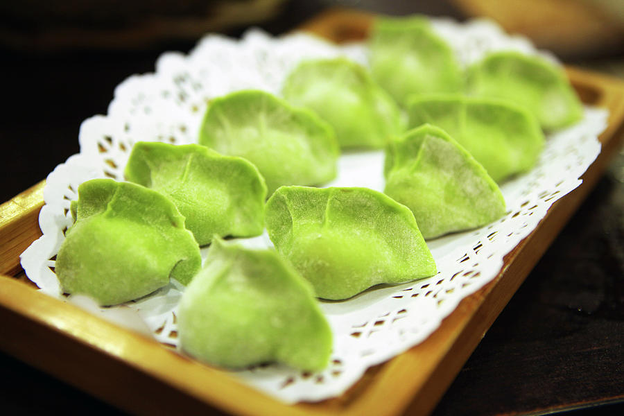 Raw Green Dumplings For Hot Pot Photograph by Digipub