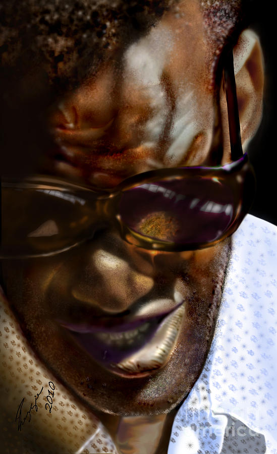 Ray Charles Painting - Ray Charles-beyond Sight 2 by Reggie Duffie