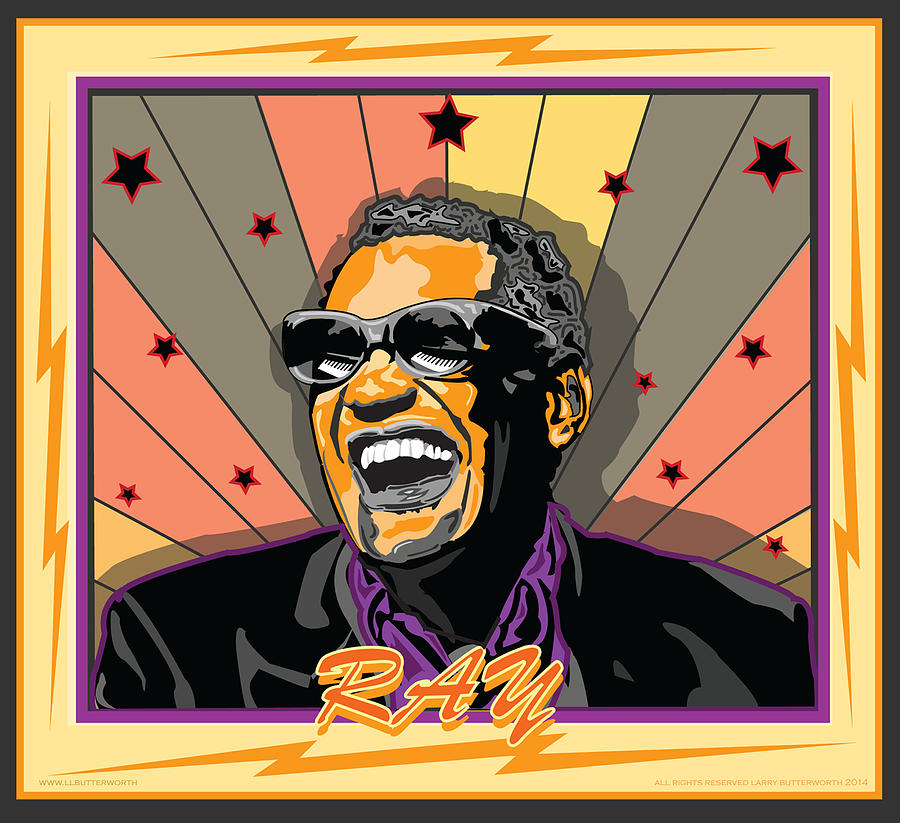 Ray Charles Digital Art - Ray Charles by Larry Butterworth