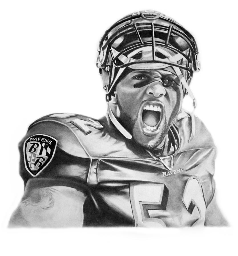 Ray Lewis Drawing - Ray Lewis by Don Medina