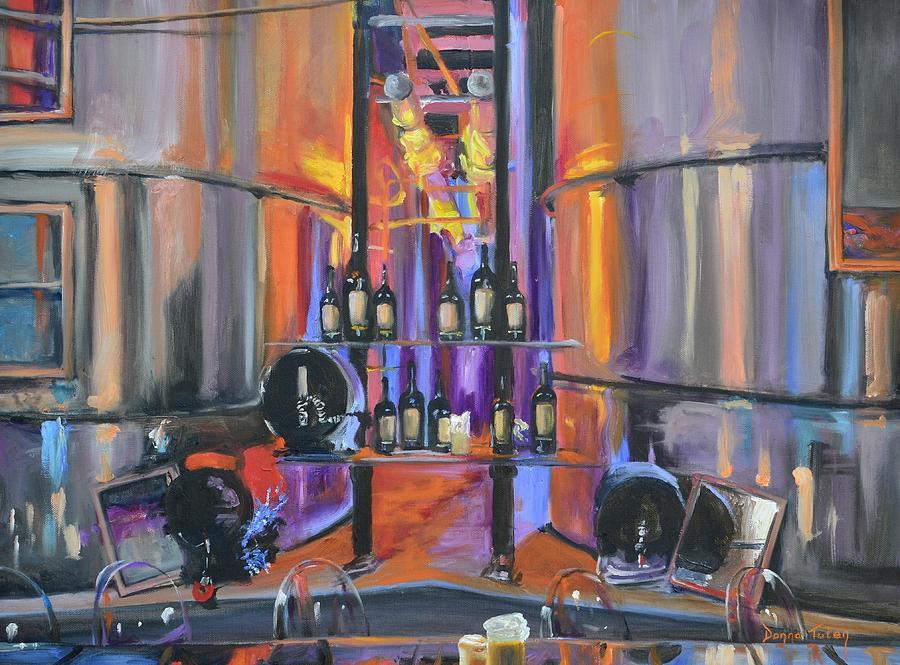 Wine Painting - Raymond Vineyards Crystal Cellar II by Donna Tuten