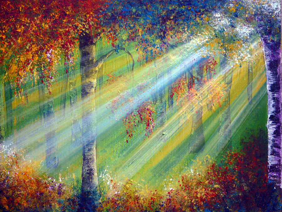 Popular Painting - Rays by Ann Marie Bone