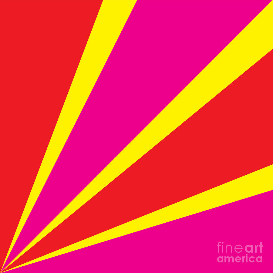 Symbol Digital Art - Rays Of Color Pink And Red by Vector Goodi