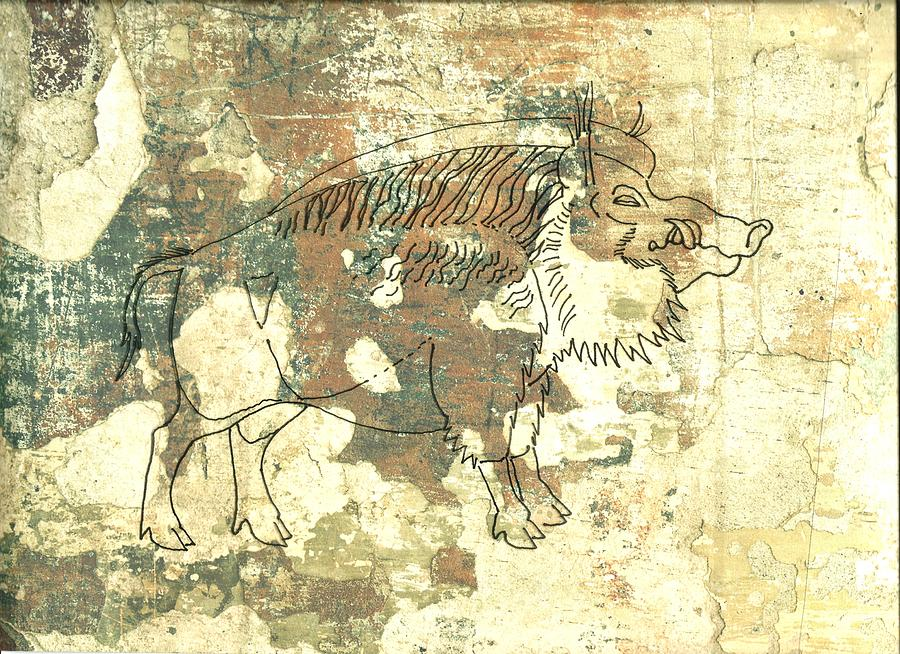 Cave Painting 2 Drawing by Larry Campbell