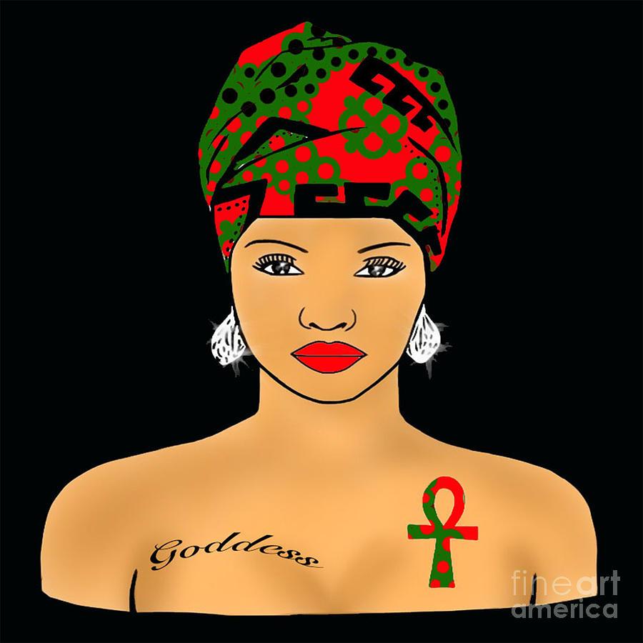 Rbg Nubian Goddess  Digital Art by Respect the Queen
