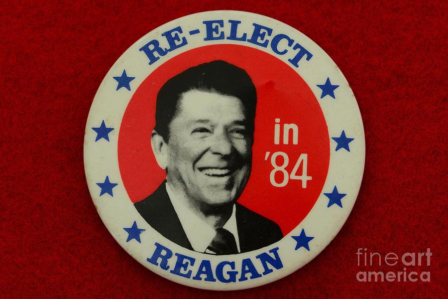 Paul Ward Photograph - Re-elect Reagan by Paul Ward